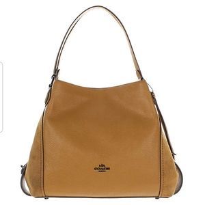 Coach Edie 31 handbag mixed leather and suade